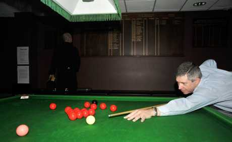 Graham Baker, tournament director, at the Bribie Open Snooker Tournament 2012 Photo: Iain Curry / Sunshine Coast Daily
