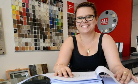 TASK IN HAND: G J Gardner Homes office administrator Cassie Foreman.