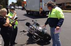 Police investigate a crash in Newtown this morning.