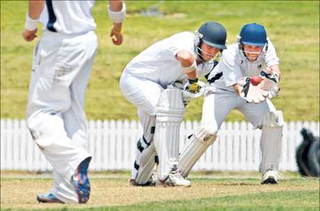 Bay of Plenty batsman Scott Steward lets the ball slip through to Northland's keeper Rory Christopherson in their two-day game at the weekend.