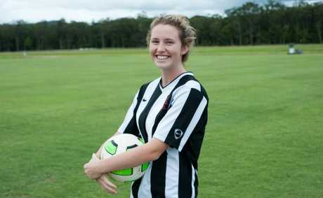 Woolgoolga product Jasmin Courtenay was promoted to the Newcastle Jets W-League senior squad on Wednesday.