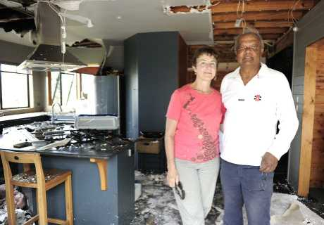 Linda and Sarath Vidanage are remaining positive after their home was destroyed by fire.