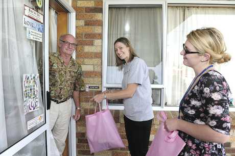 Bay of Plenty Times Christmas Foodbank appeal 2012, can drive in Greerton. Derrick Bishop, Samantha Dowling, Kelly Ryan