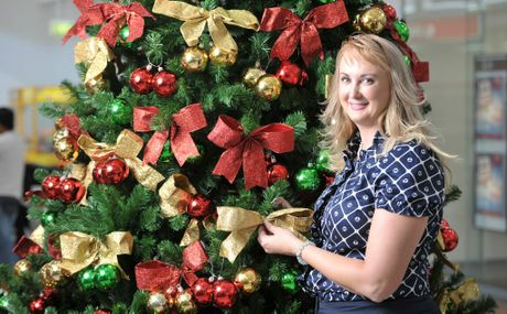 Cr Cheryl Bromage promoting the Brassall Christmas Carols in the park. Photo: Rob Williams / The Queensland Times