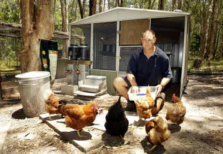 Mark Valencia is in the running to win due to his converted Cheap Shed. Photo Vicki Wood / Caboolture News
