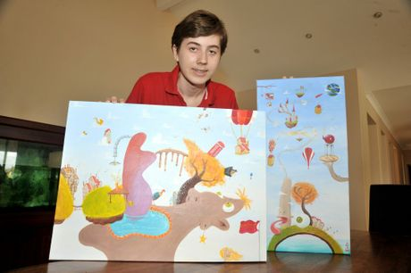Blake Boyle, age 15, from Morayfield, has won Young Australian Artist of the Year. Photo:Iain Curry / Caboolture News