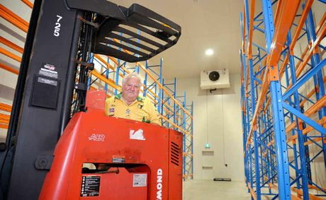 Charlie Horne in the driver&#39;s seat in his new Cooloola foods building.