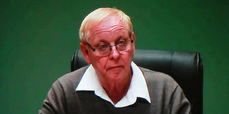 FRAUDSTER: Gerald Morton Shirtcliff on a video link at the royal commission's inquiry into the CTV collapse.