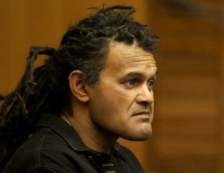 HOME DETENTION: David Andrew Taite in Napier District Court yesterday for sentencing. He is wheelchair-bound and paralysed from the waist down, after being shot by police last year. PHOTO/WARREN BUCKLAND HBT124504-1