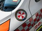 A MAN was hospitalised after his motorbike collided with a car on Tyalgum Rd at Eungella on Monday.