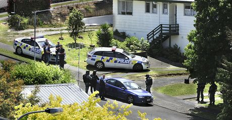 Police raided three houses in Tauranga and Mount Maunganui. 