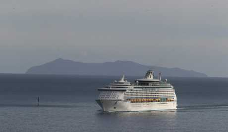 The Voyager of the Seas arrived in Tauranga this morning.