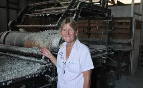 WORK IN PROGRESS: Jacqui Brown knows restoring the old Monto Herald building will be hard work.