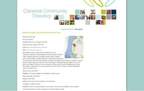 A screenshot of the online council directory.