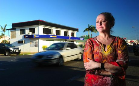 Julianne Silver is concerned with the number of accidents ocuring outside her workplace at the corner of Herbert and Auckland Street, Gladstone.