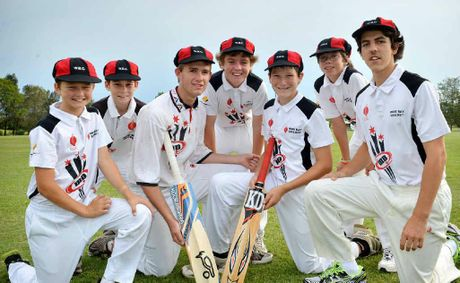 Wide Bay cricket representatives Bradley Mills, Jake Vidler, Rollan Brook, Leo Cartwright, Wiliam Gear, Brycen Mitchell, Jarrod Darrach.