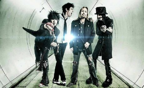 Motley Crue will be in Mackay in March at Virgin Australia Stadium when they perform with Kiss and Thin Lizzy.