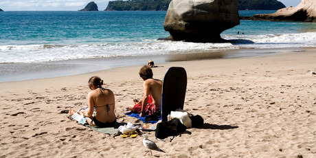 The Coromandel and Bay of Plenty are good bets for steady sunshine this summer.