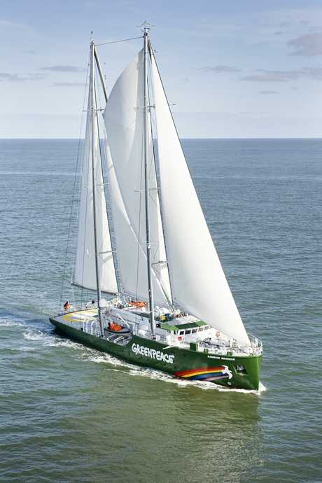NEW FLAGSHIP: The new Rainbow Warrior, which will visit Northland early in the New Year. GREENPEACE