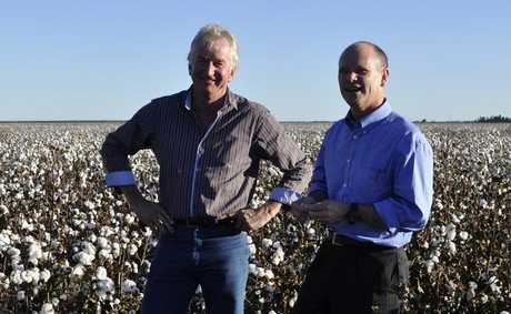 Ray Hopper and Campbell Newman in happier times ahead of this year's election. Photo: Dalby Herald