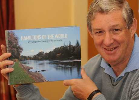 Hamilton Rotarian Tim Brooker has put together a book dedicated to the 129 Hamiltons throughout the world as a Rotary fundraiser.