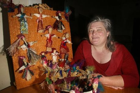 HANDMADE: Tracey Young will be selling her muka dolls at the Families in Business Night Market.