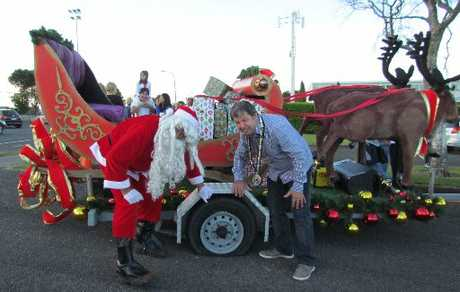 Even Santa gets a flat tyre from time to time.