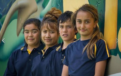 Next year's Tarawera High School pupils model the new school uniform, which will be provided at no cost to students.