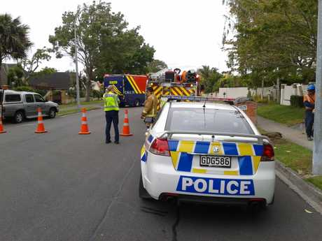 Residents of Orange Lane in Bethlehem were evacuated and the street closed off due to a gas leak.
