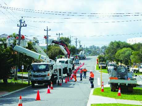 A Northpower team hard at work in a street in Scarborough, Perth. Photo / Supplied
