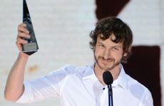 Goyte accepts the Album of the Year award at the ARIAs.