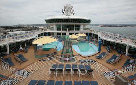 The majestic Voyager of the Seas visited Tauranga on Wednesday.