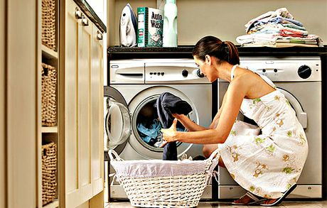 Don't put the laundry in a traffic area. Stepping over baskets and piles of clothes on the way to the