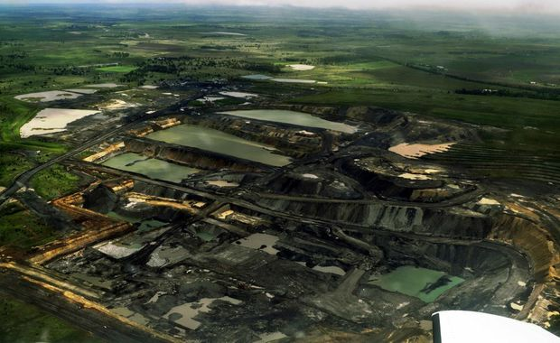 A bird&squot;s eye view of the Acland coal mine.