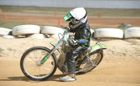 SPEEDWAY STAR: Kingaroy&#39;s Cordell Rogerson will head to Victoria next month to compete for the under-16 125cc Australian title.