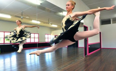 DANCING STAR: 15-year-old Bundaberg Dance Academy student Sarah Dinsey has been accepted into the Australian Dance Performance Institute's full time classical program for 2013. Photo: Max Fleet / NewsMail