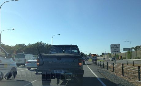 Traffic stood still this morning while a crash was cleared. Photo: Contributed
