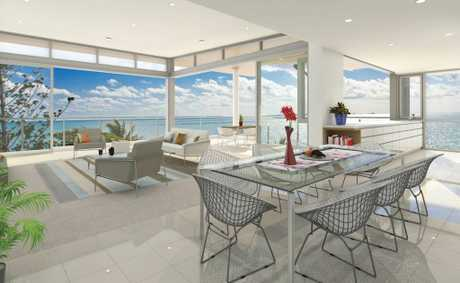 An artist's impression of the inside of one of the Salt apartments.