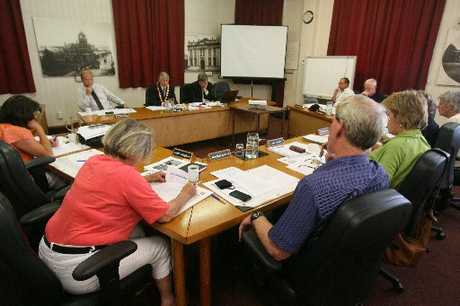 BIG DECISION: Masterton District Councillors discuss the working party recommendations before signing them off. PHOTO/LYNDA FERINGA