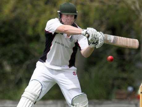 Central captain Peter Wood showing the form that has seen him among the runs this season. It will be vital for Wood to get some runs if they are to be successful against East Bay United tomorrow. Photo / File