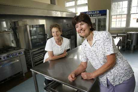 TEAMWORK: Fenella Richardson (left) and June Foote have worked together in the kitchen at Lupton House for 34 years.