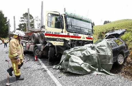 DELAY: A Mitsubishi vehicle and truck collided on SH1 near Kaiwaka.
