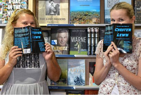 NOSE IN THE BOOK: Local authors Sharon Johnston and Kelly Inglis are two of 11 writers who have each written a chapter of The Life and Times of Chester Lewis.