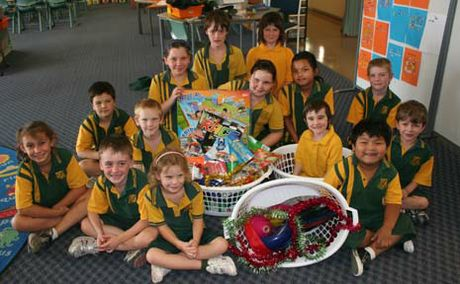 JOY OF GIVING: Mount Murchison State School students have been learning about giving at Christmas by adopting an Anglicare family.