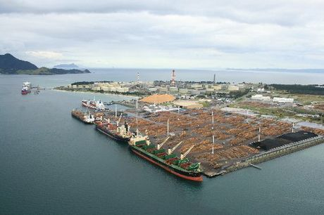 ROOM TO STRETCH: An aerial view of Northport, the deep-water port at the mouth of Whangarei Harbour.