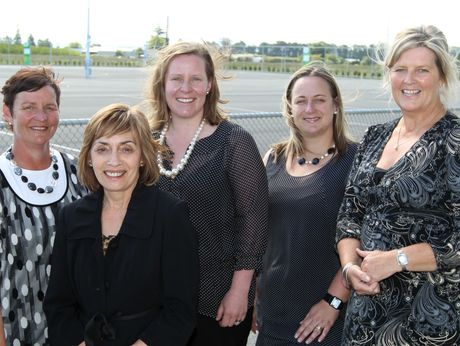 The inaugural board of Hawke's Bay Netball Centre are: Meg Brown from Central Hawke's Bay, Shirley Randell and chairwoman Heidi Oliver of Hastings, Dionne Thomas of Havelock North and Chris McIntyre.