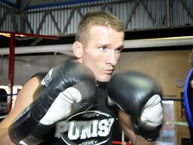 Toowoomba-trained boxer Les Sherrington.