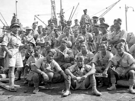 Members of the Maori Battalion in Alexandria, Egypt.