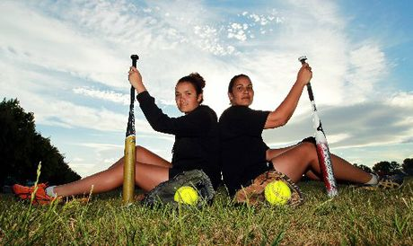 QUALITY TIME: Brooke Eden (left) and Angela Stubbs will create history when the Hawke's Bay women make their debut at the National Fastpitch Championship softball tournament in North Harbour next week.