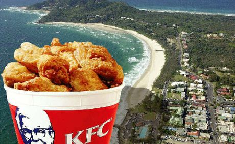 ON A WING AND A PRAYER?: KFC is looking to set up shop in Byron Bay.